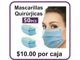 Caguas Puerto Rico COVID-19 Mascarillas, Mascarillas Quirúrgicas FDA de 50pcs $10