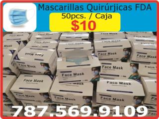 San Juan - Santurce Puerto Rico Joyeria (Prendas), Mascarillas Quirúrgicas FDA de 50pcs $10