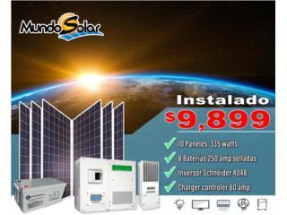 San Juan Puerto Rico Calentadores de Agua, Sistema Placas solares instaladas Scheneider