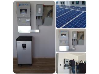 Solark 12k Medicion Neta mas Baterias Placas, PowerComm, Inc 7878983434 Puerto Rico