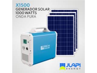 GENERADOR SOLAR PORTATIL de 1500 Watt-horas, Juapi Energy Puerto Rico