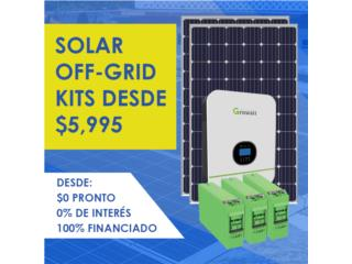 SOLAR OFF-GRID con Financiamiento desde 0%, Juapi Energy Puerto Rico
