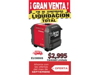 Carolina Puerto Rico Muebles de Patio, Planta Eléctrica Honda 3000W EU3000iS $2995