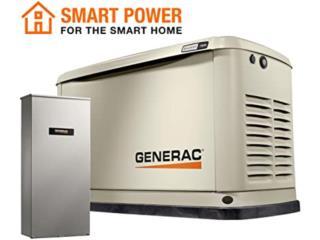 GENERAC GUARDIAN 13KW GAS COMBO Wifi+TRANFER, G.T. Power Division  Puerto Rico