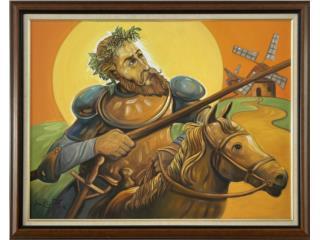 Quijote y Rocinantes Jose Hermitaño Lugo 2005, Paintings Puerto Rico