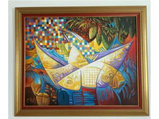 Barquito de Papel  Jose Hermitaño Lugo 200, Paintings Puerto Rico