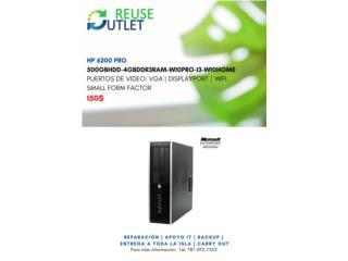 Computadora HP 6200 HP, Reuse Outlet Store Puerto Rico