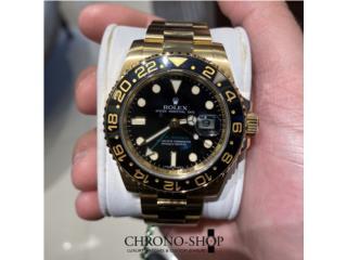 Carolina - Isla Verde Puerto Rico Joyeria Relojes, Rolex GMT Master II 18k Yellow Gold (Descon)