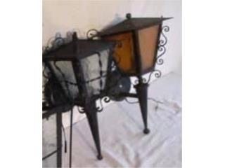 Dos (2) lámparas Antiguas renovadas , Mr. Bond Vintage Puerto Rico