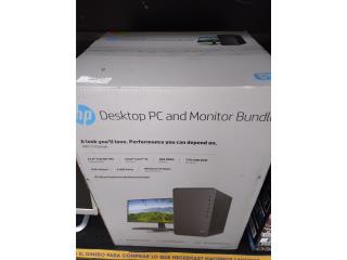 HP  DESKTOP PC AND MONITOR NUEVA , La Familia Casa de Empeño y Joyería-Arecibo Puerto Rico