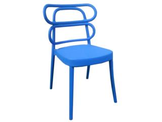 Silla de Resina Chantal Color Azul, PR SEATING Puerto Rico