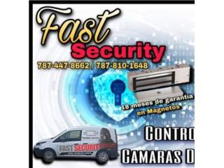 Cerradura magnetica 1200 lbs para portones , FAST SECURITY  Puerto Rico