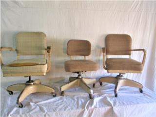 Tres (3) Silas Oficinas de los 1950's-60's, Mr. Bond Vintage Puerto Rico