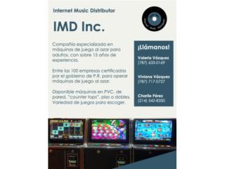 Maquina De Juego Para Adulto, Internet Music Distributor (IMD) Puerto Rico