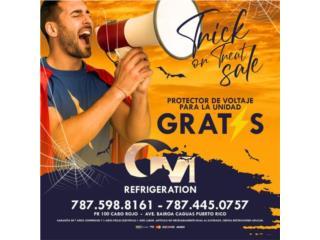 INVERTER SEER21 12BTU $625 GRATIS PROTECTOR, CM REFRIGERATION Puerto Rico