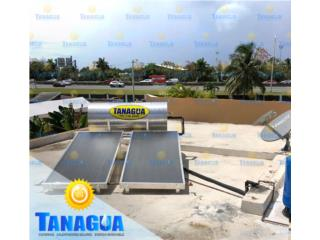 SISTEMA CALENTADOR SOLAR, #1 Agua Tanagua Puerto Rico