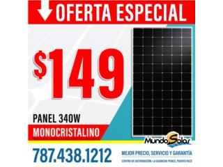 Panel 340W Monocristalinos *PRECIO ESPECIAL*, Mundo Solar Puerto Rico