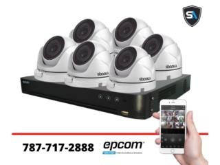 6 camaras 1080p instalacion basica, Security & Automation  Puerto Rico