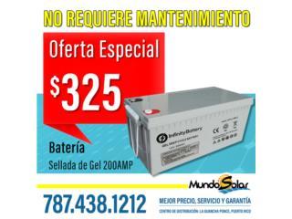 Bateria Sellada 200 AMP, Mundo Solar Puerto Rico