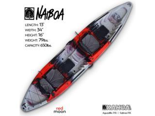 KANOA Naiboa-Red Moon color, KANOA kayaks Puerto Rico