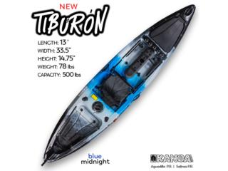 KANOA Tiburon kayak- Blue Midnight, KANOA kayaks Puerto Rico