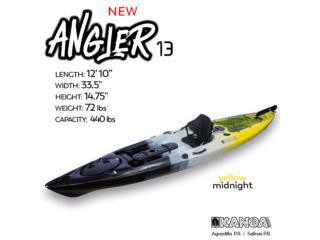 KANOA Angler 13- Yellow Midnight, KANOA kayaks Puerto Rico