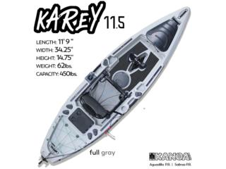 KANOA Karey 11.5 pedal kayak-Full Gray, KANOA kayaks Puerto Rico