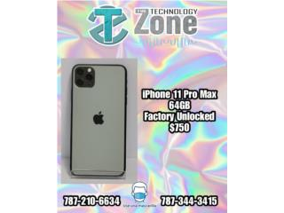 IPhone 11 Pro Max 64GB- Factory Unlocked, The Technology Zone Puerto Rico