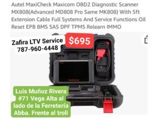Autel Scanner MaxiCOM Mx808 $695, Zafira LTV Service Corp. Puerto Rico