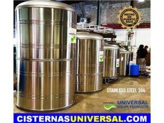CISTERNAS SIN QUIMICOS INT. 450 -1200 GLS, 56 ANIVERSARIO UNIVERSAL SOLAR OFIC:(787)635-5575 Puerto Rico