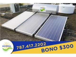 CALENTADORES SOLARES UNIVERSAL FAMILIAR, Universal Solar Jesus  Cordero 787-417-2202 Puerto Rico