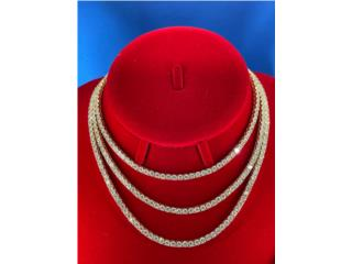 Gold Tennis Chain 4mm (Todos Tamaños), Discount Offer Puerto Rico