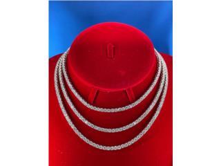 Silver Tennis Chains 4mm (Todos los Tamaños), Discount Offer Puerto Rico