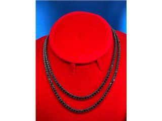 Black Tennis Chain 4mm (Todos Los Tamaños), Discount Offer Puerto Rico