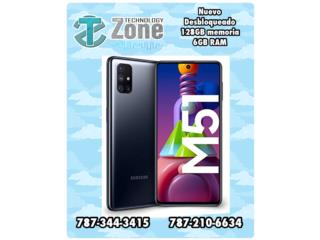 Samsung M51 - color negro - 7000mAh, The Technology Zone Puerto Rico