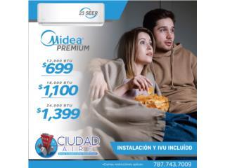 Guaynabo Puerto Rico Equipo Comercial, NEW MIDEA PLUS 19 SEER 24,000 $1100