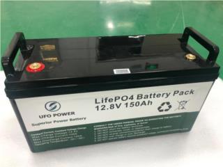 Bateria Lifepo4  12V 150Ah con BMS Incluido, Garcia Energy, LLC. Puerto Rico