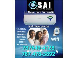 Airmax 12,000 110 Voltios  Seer 21desde $675, Speedy Air Conditioning Servic Puerto Rico