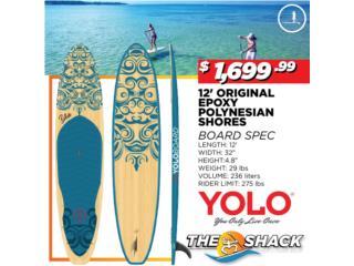 Yolo original Polynesian Shore 12', The SUP shack  Puerto Rico
