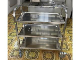 UTILITY CART STAINLESS STEEL, Equipos Comerciales Puerto Rico