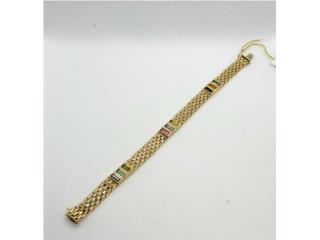 Gold Wheat Bracelet: 9.5D 14K, size 8.5