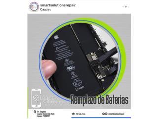 Reemplazo de bateria iphone y androides, Smart Solutions Repair Puerto Rico