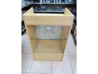 CASH REGISTER STAND MAPLE W/GLASS 24L X 18D X, WSB Supplies U Puerto Rico