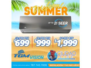 Guaynabo Puerto Rico Equipo Comercial, TGM UP TO 21 SEER 18,000 BTU $999
