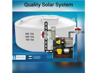 Cisternas con variedad de tamaños., Quality Solar System 787-517-0663  Puerto Rico