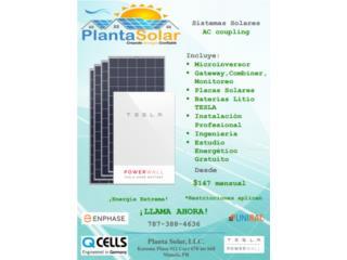 Sistemas Solares con instalacion, Planta Solar 7873884636 Puerto Rico