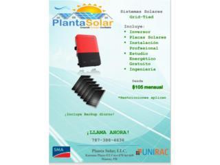 Sistemas Solares SMA con instalacion, Planta Solar 7873884636 Puerto Rico