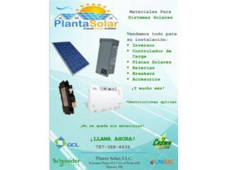 Sistemas solares - materiales, Planta Solar 7873884636 Puerto Rico