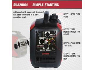 IPower 2000w Generador Inverter, MOTORES Y EQUIPOS Puerto Rico