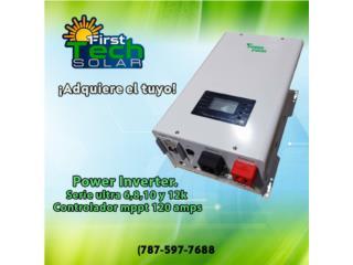 POWER INVERTER 12K 48 VOLTIOS hybrido, FIRST TECH SOLAR Puerto Rico